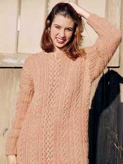 Knit Clothing - Long-Sleeved Sweater Knitting Patterns - Braided ...