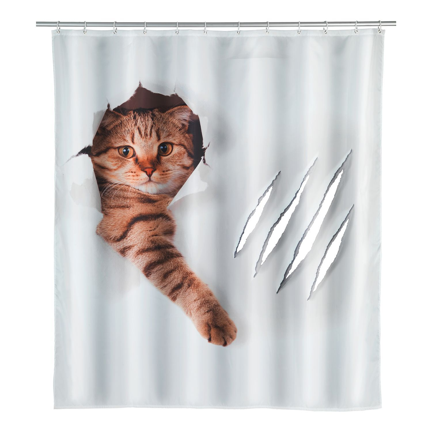 Rideau De Douche Cute Cat In 2020 Moderne Duschvorhange
