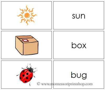 3 Letter Phonetic Words With Pictures