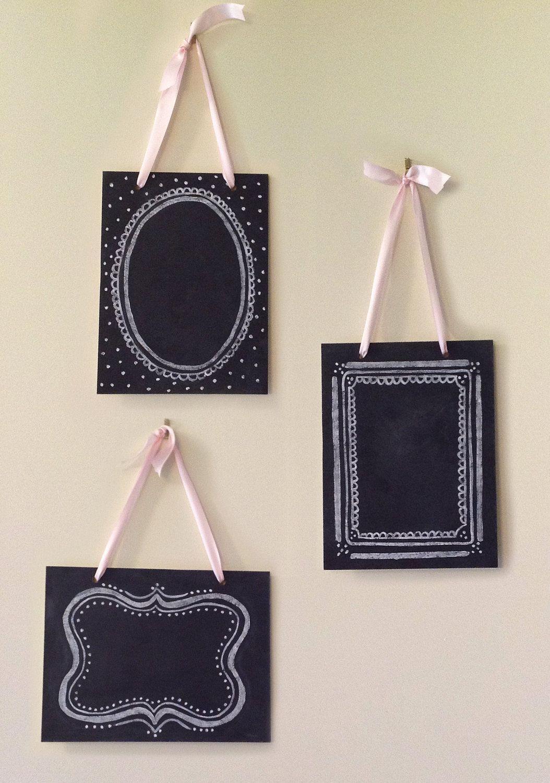 Set of 3 Vintage Chalkboards - Shabby Chic Decor - Wedding ...