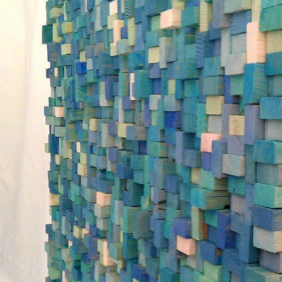 wood block wall sculpture | diy {wall, floor, & ceiling art