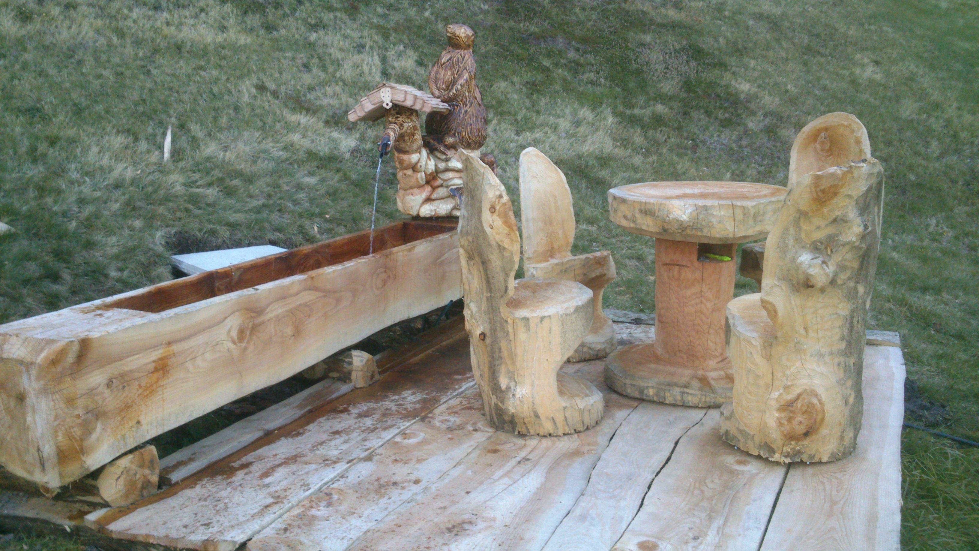 Alles Aus Einem Baum Trog Tisch Stuhle Tattermann Boden Und