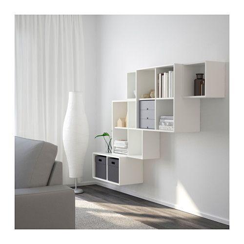 EKET Wallmounted cabinet combination, white  Wall mount, Walls and Playrooms -> Enfilade Ikea