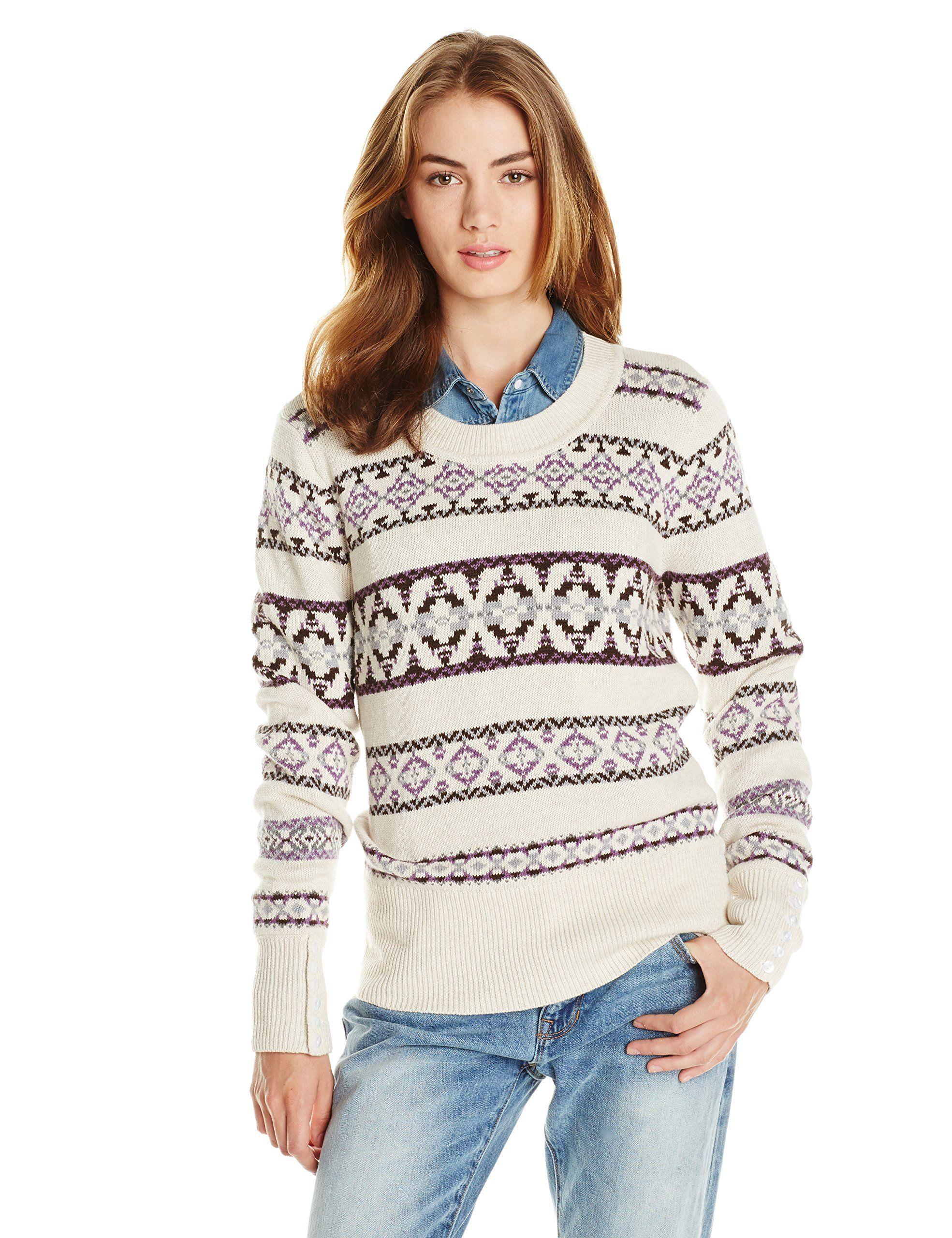 Pendleton Women's Fair Isle Pullover Sweater, Natural Heather ...