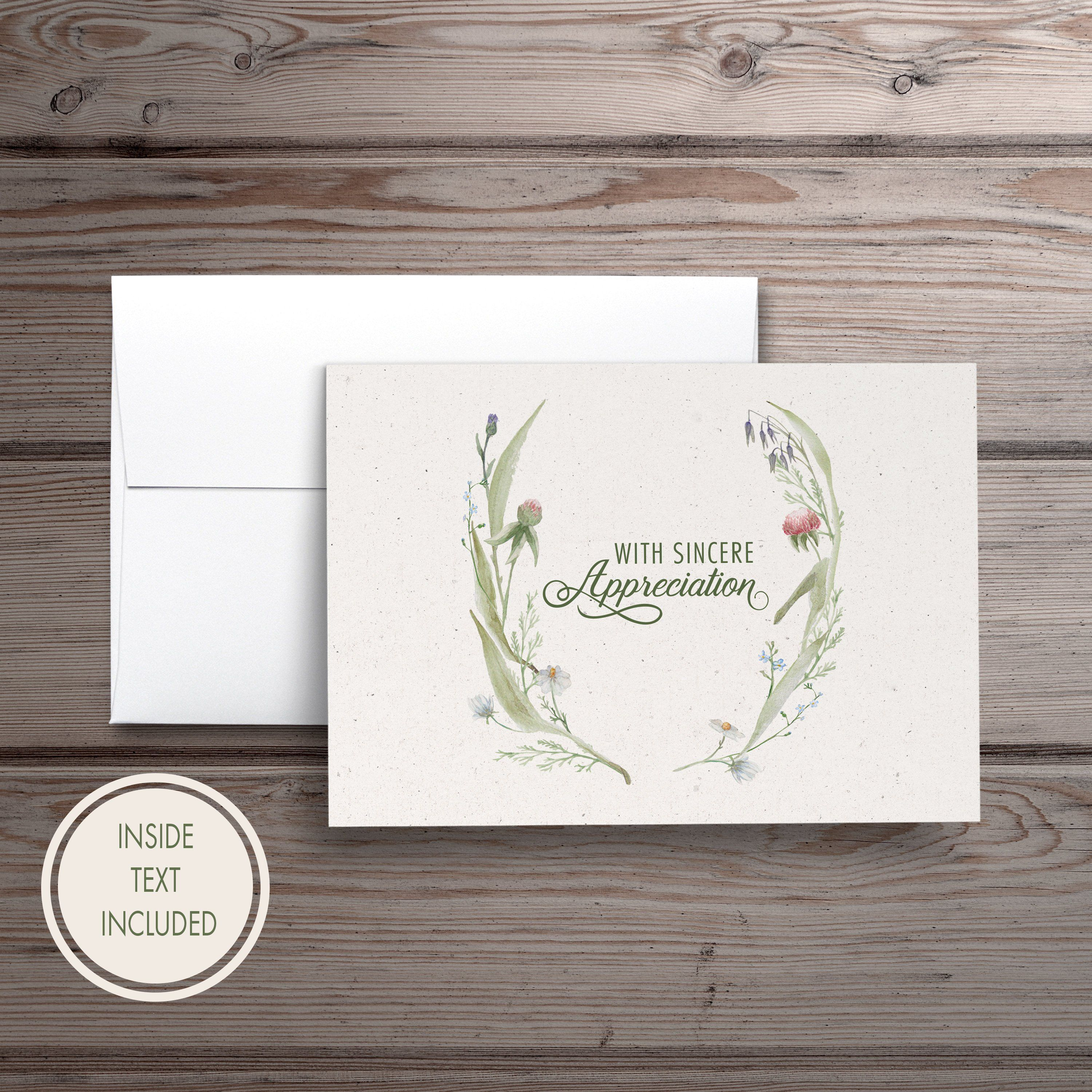 Funeral thank you cards personalized sympathy