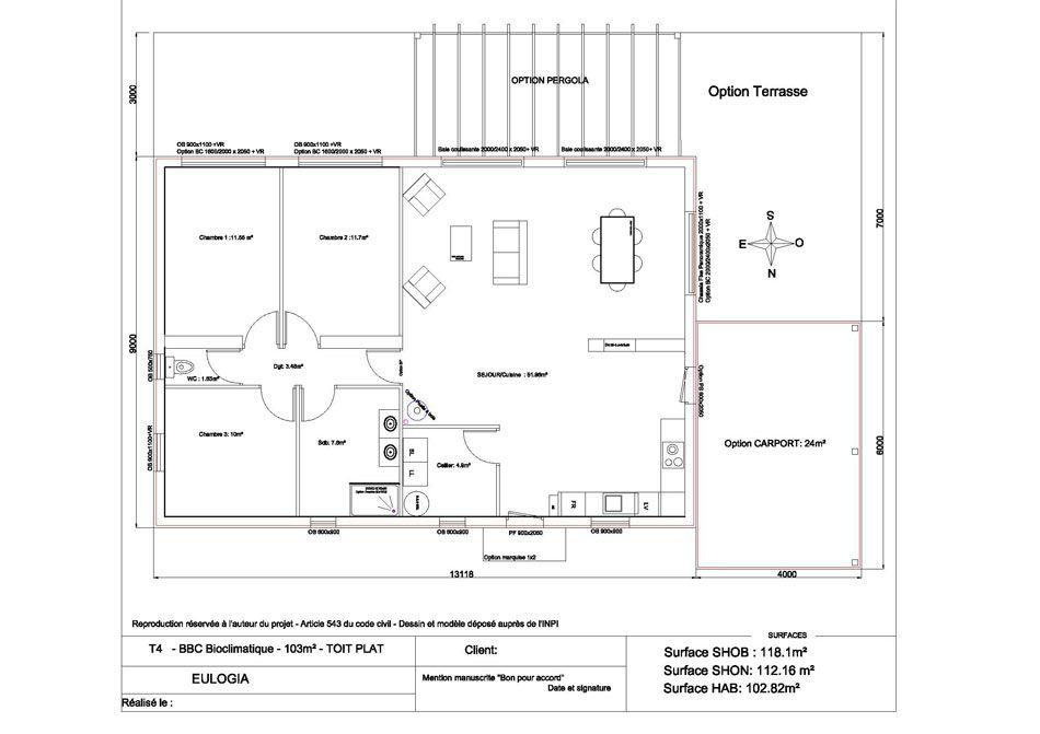 plan-C103-A4 A plan de maison Pinterest A4 - forum plan de maison