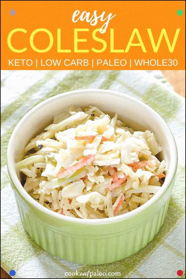 Dieses einfache Krautsalat-Rezept verwendet nur 4 Zutaten und benötigt nur wenige Minuten um es zuzubereiten. Ideal für einen Potluck oder Sommer-Grill und es ist Paleo Low Carb und Keto Friendly