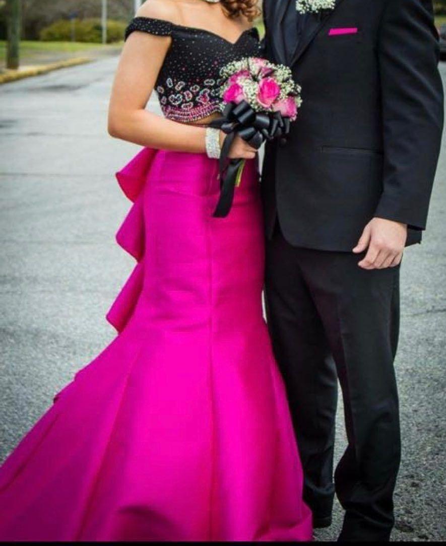 Two piece dress prom hocok prom prom formaldress