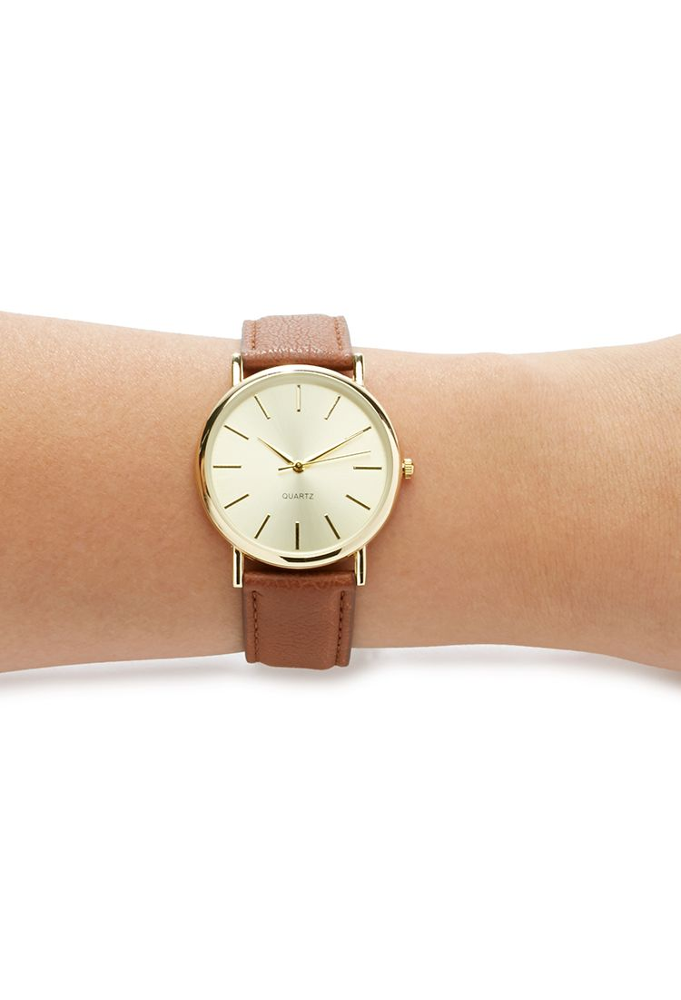 Faux Leather Strap Watch | Forever 21 - 1000141531