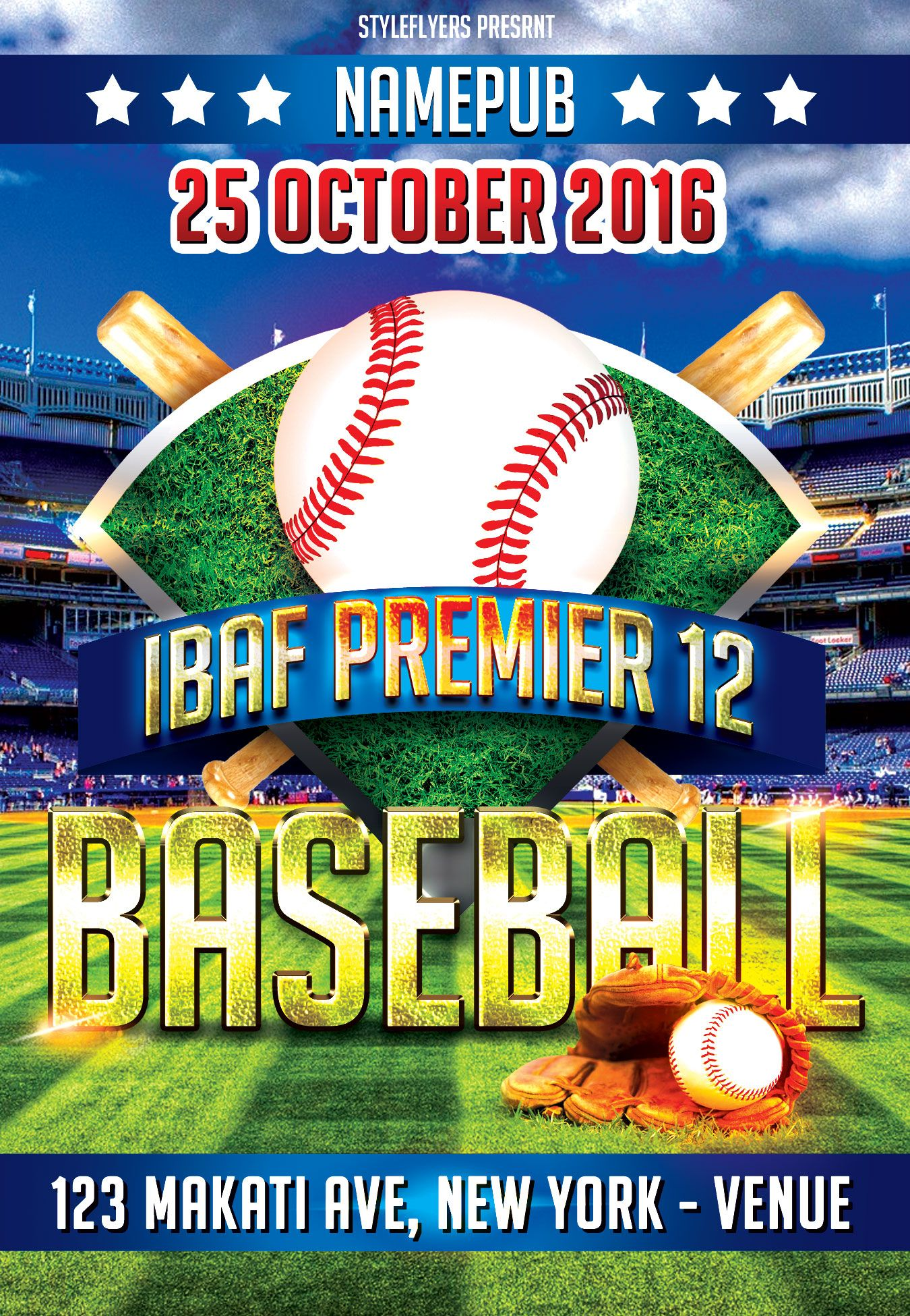Free baseball psd flyer template is waiting for you Download it – Baseball Flyer