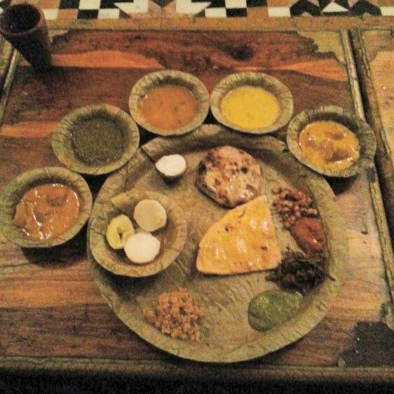 foods a an authentic rajasthani thali at choki dhaani chokidhaani jaipur rajasthan india