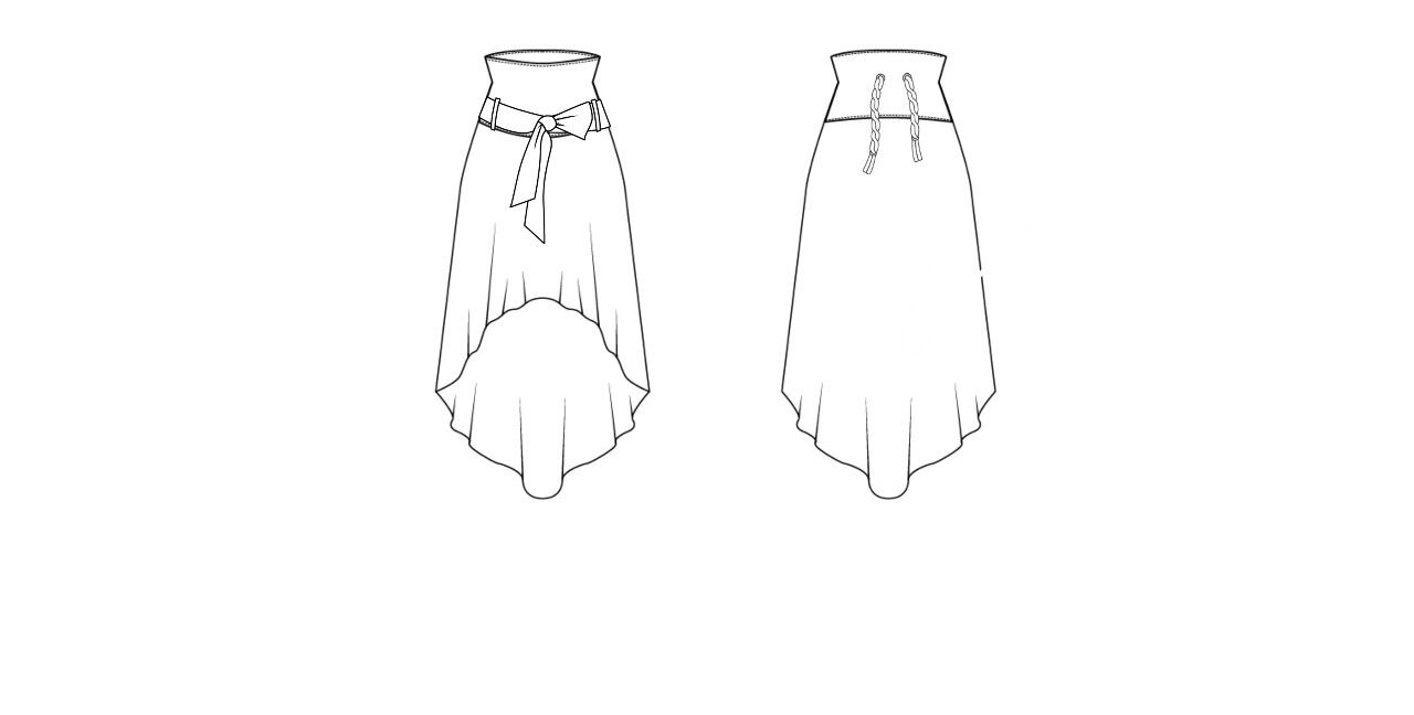 High Low Skirt High Low Skirt Fashion Sketches Fashion