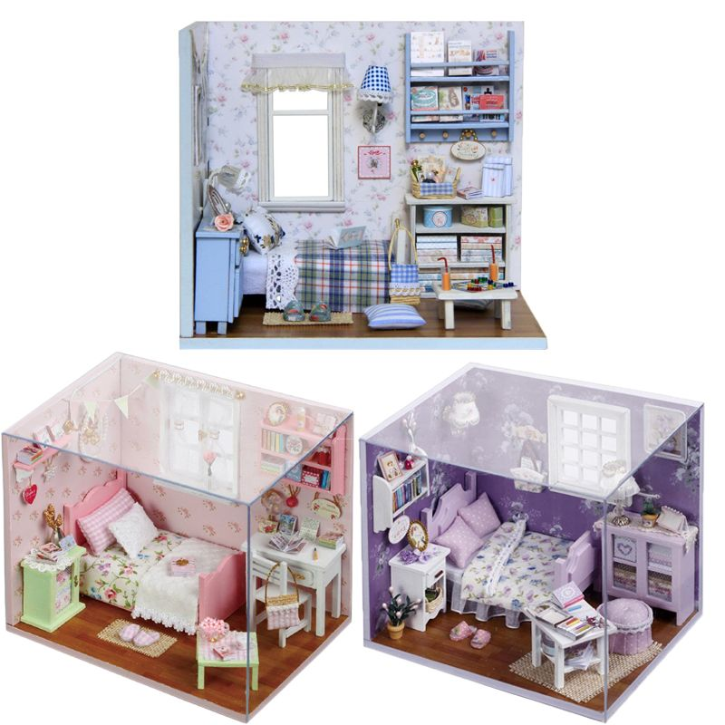 Toys Dollhouse Miniature Box Kit With LED Furnitures Handcraft Miniature  Dollhouse DIY Wooden Doll House