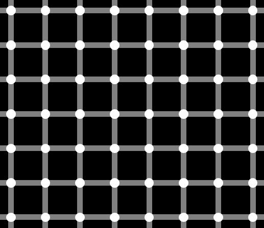 Check out Blinking Dots from 10 Cool Optical Illusions