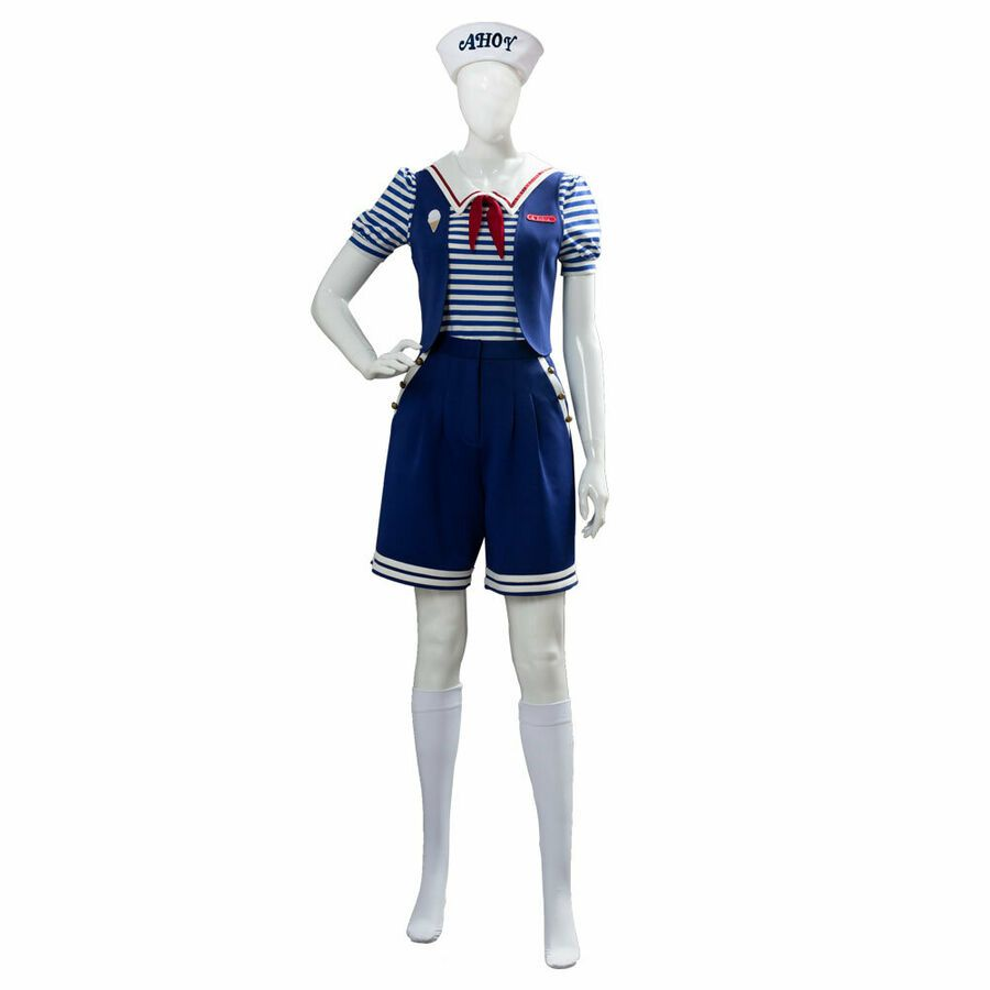 Stranger Things 3 Robin Scoops Ahoy dress cosplay costume official halloween