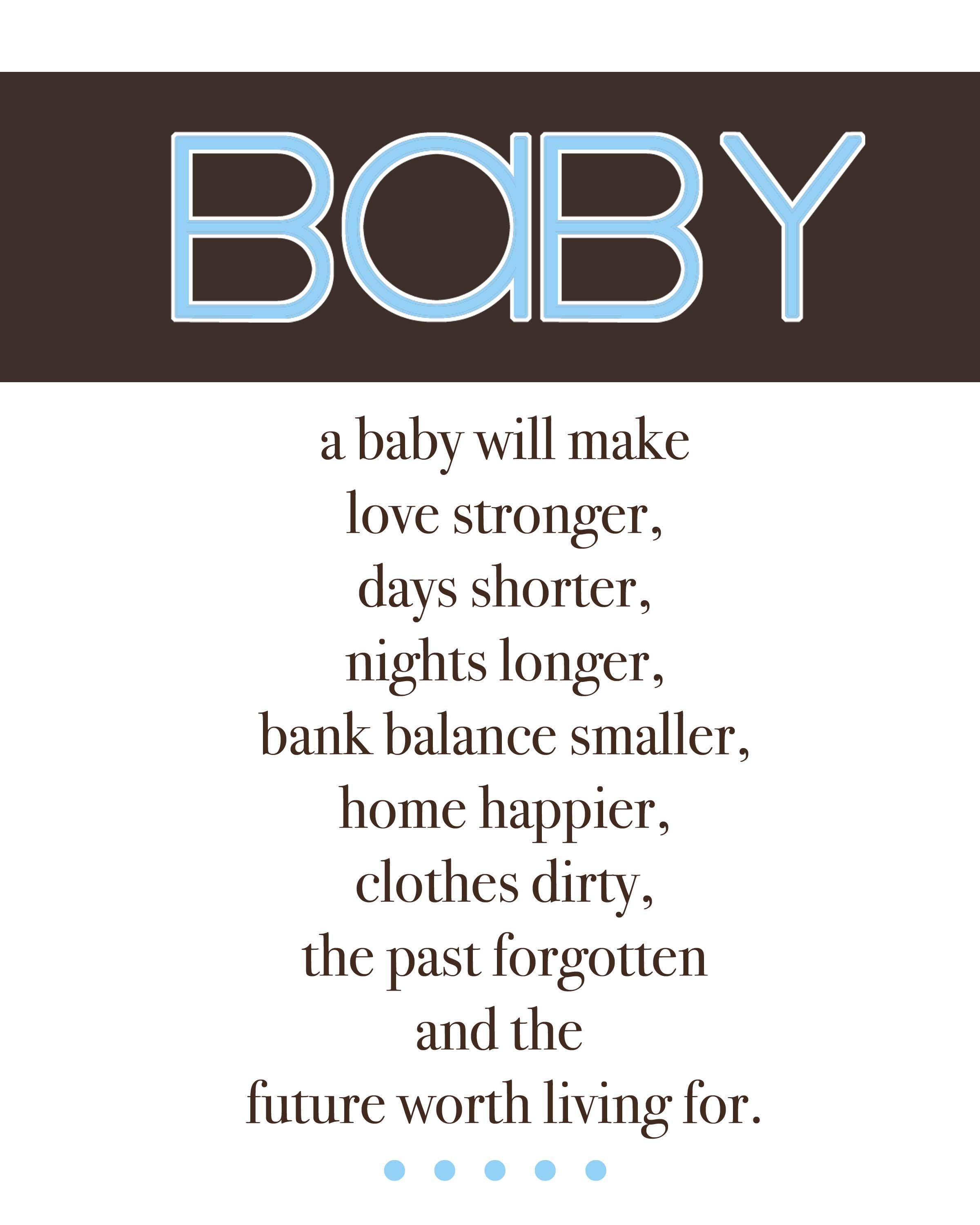 Cute boy baby shower sayings