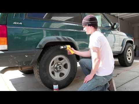 Removing Graying from Jeep Wrangler Fender Flares with a Heat Gun