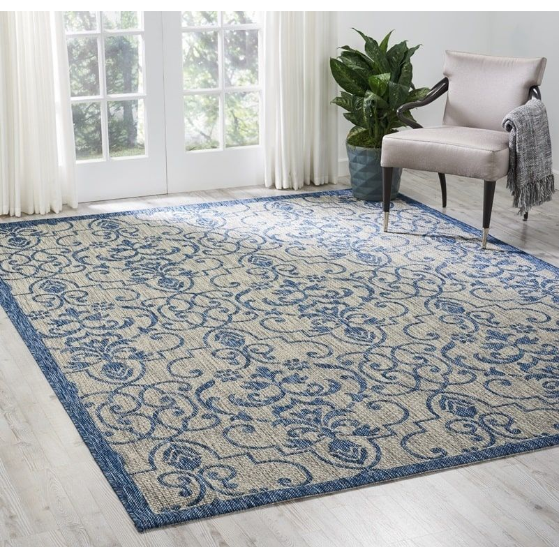 Nourison Garden Party Patterned Indoor Outdoor Area Rug Indoor Outdoor Area Rugs Cool Rugs Indoor Outdoor
