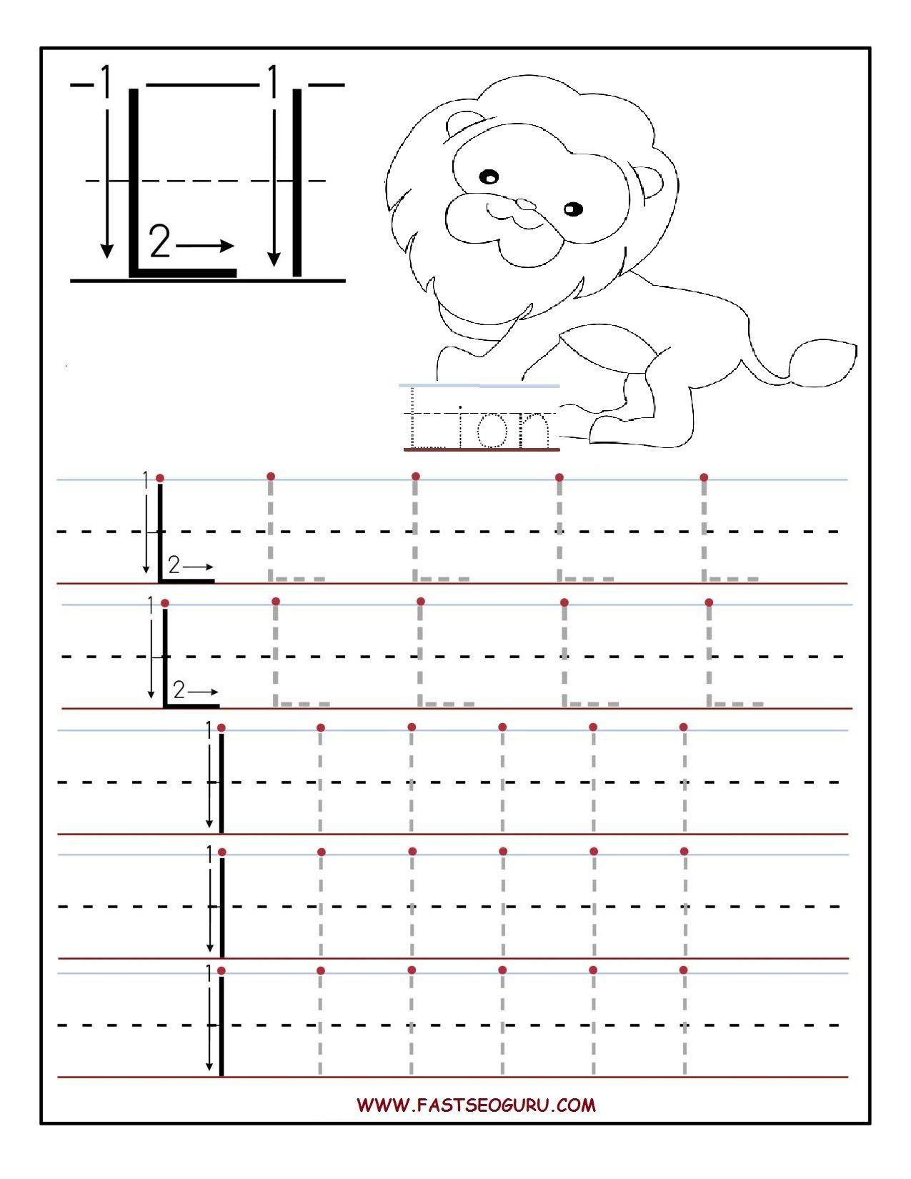 Printable Letter L Tracing Worksheets For Preschool Preschool Letters Letter L Worksheets Letter Worksheets For Preschool [ 1650 x 1275 Pixel ]