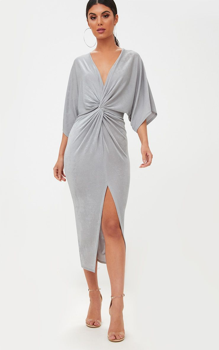 Womens Simply Be By Night Twist Knot Midi Dress Simply Be