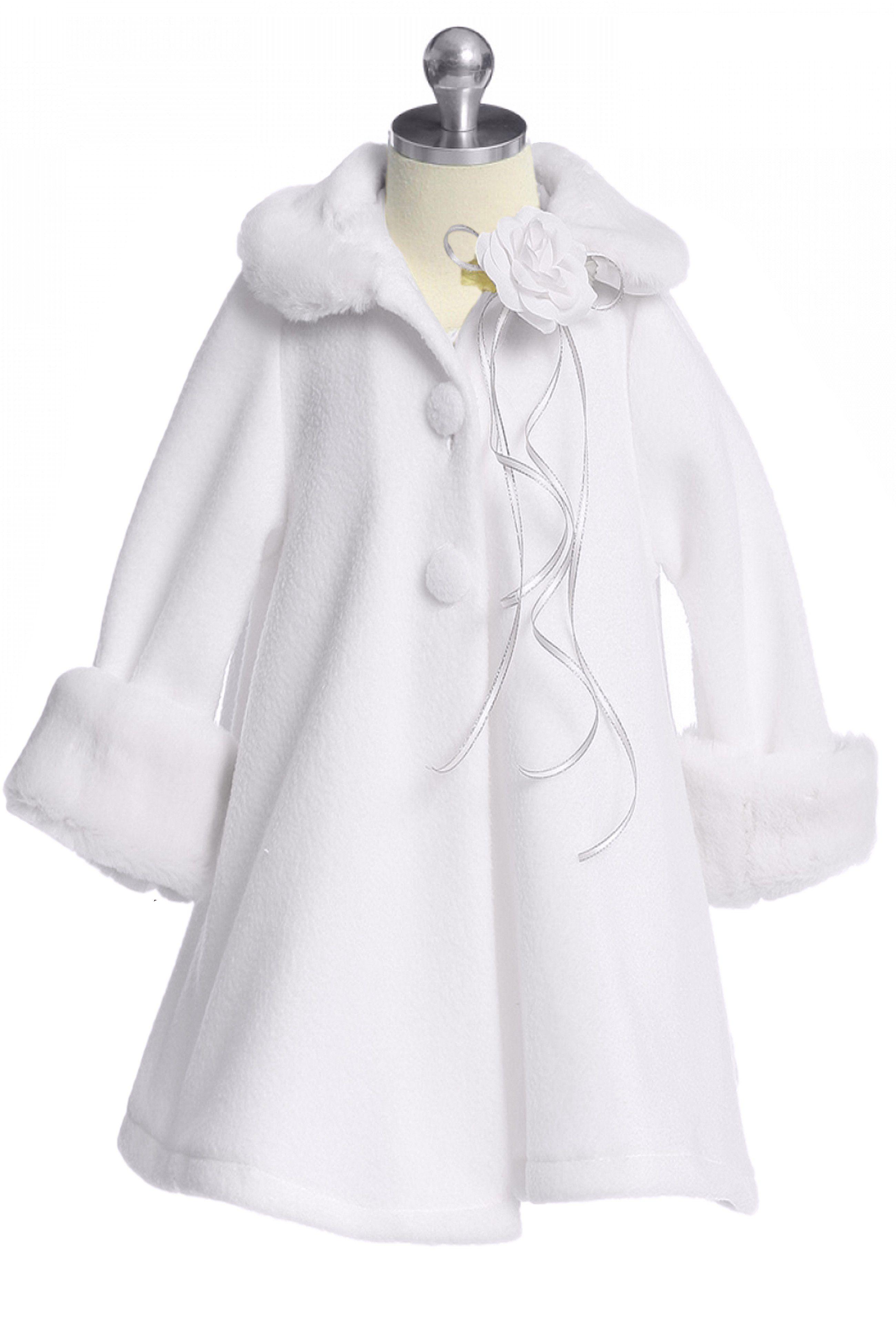 White Fleece Girls Dress Coat With Fur Trim 2 12 Rachel S Promise In 2021 Womens Dress Coats Girls Dress Coats Coat Fashion [ 3900 x 2600 Pixel ]