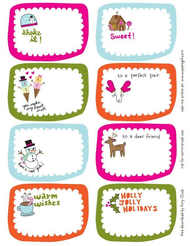 41 Sets of Free Printable Christmas Gift Tags Free printable