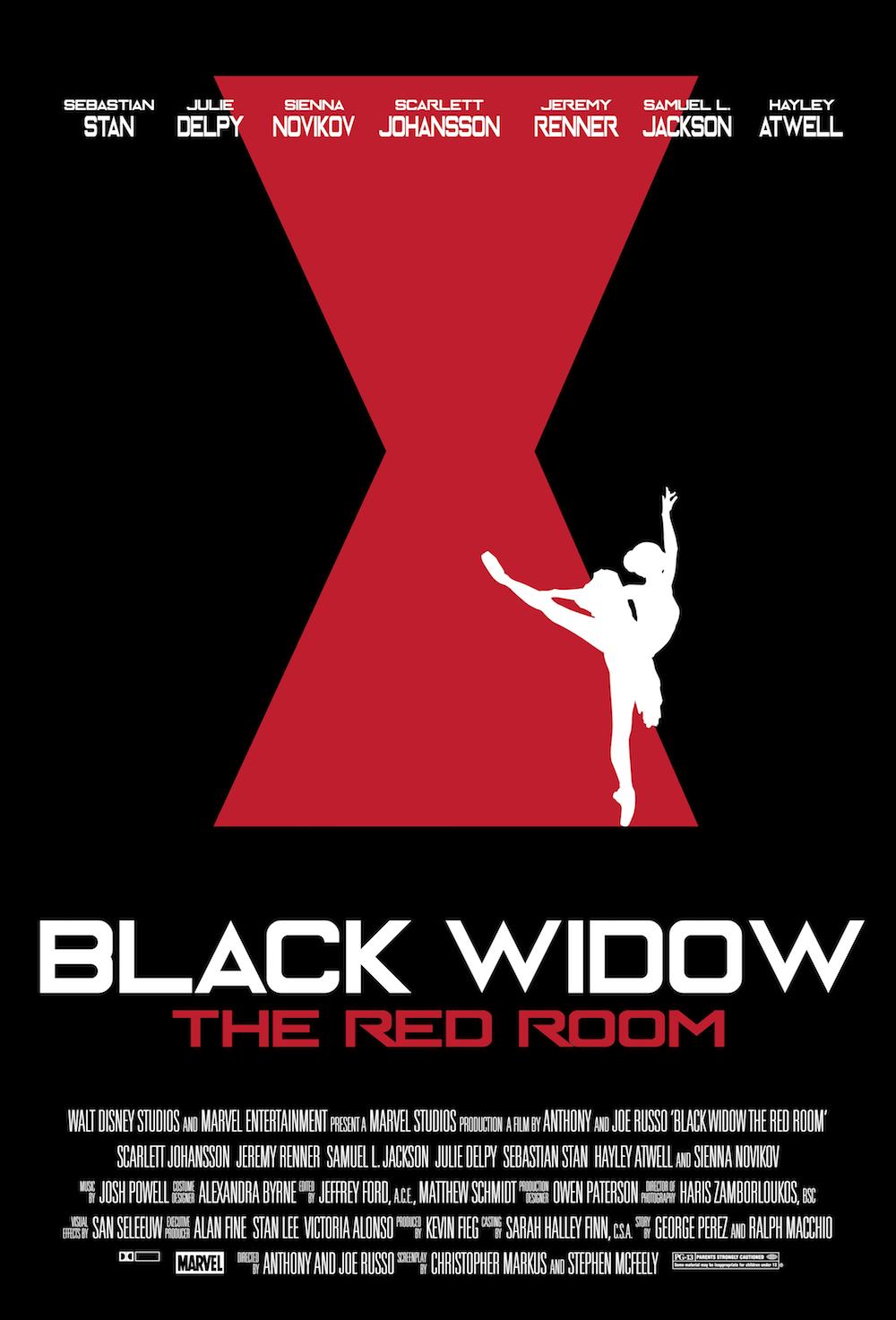 Black Widow The Red Room Fan Art Posters Series