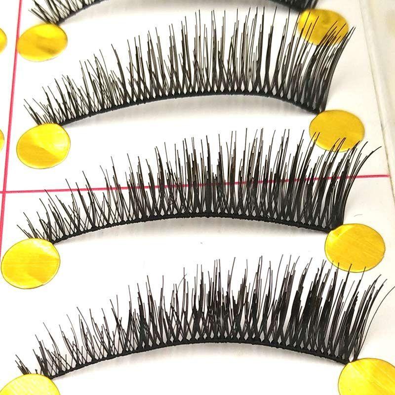 10 Pairs Black Natural Long Thick False Eyelashes Fake Eye ...