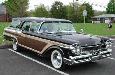 1957 Mercury Colony Park Station Wagon With Metal Eyelids Right Out Of Clockwork Orange Station Wagon Cars Station Wagon Wagon Cars