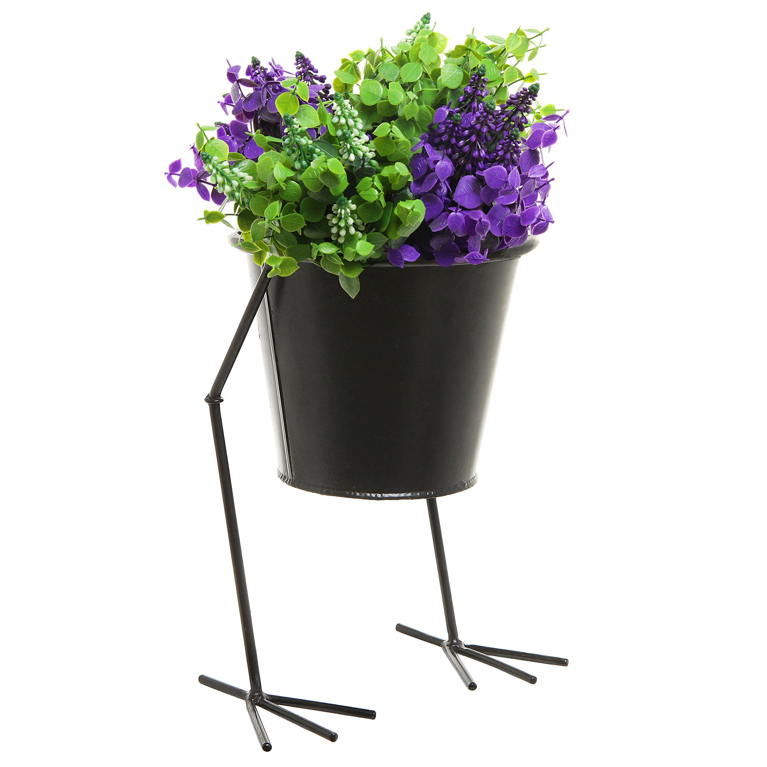 Decorative Black Metal Chicken Leg Design Outdoor & Indoor