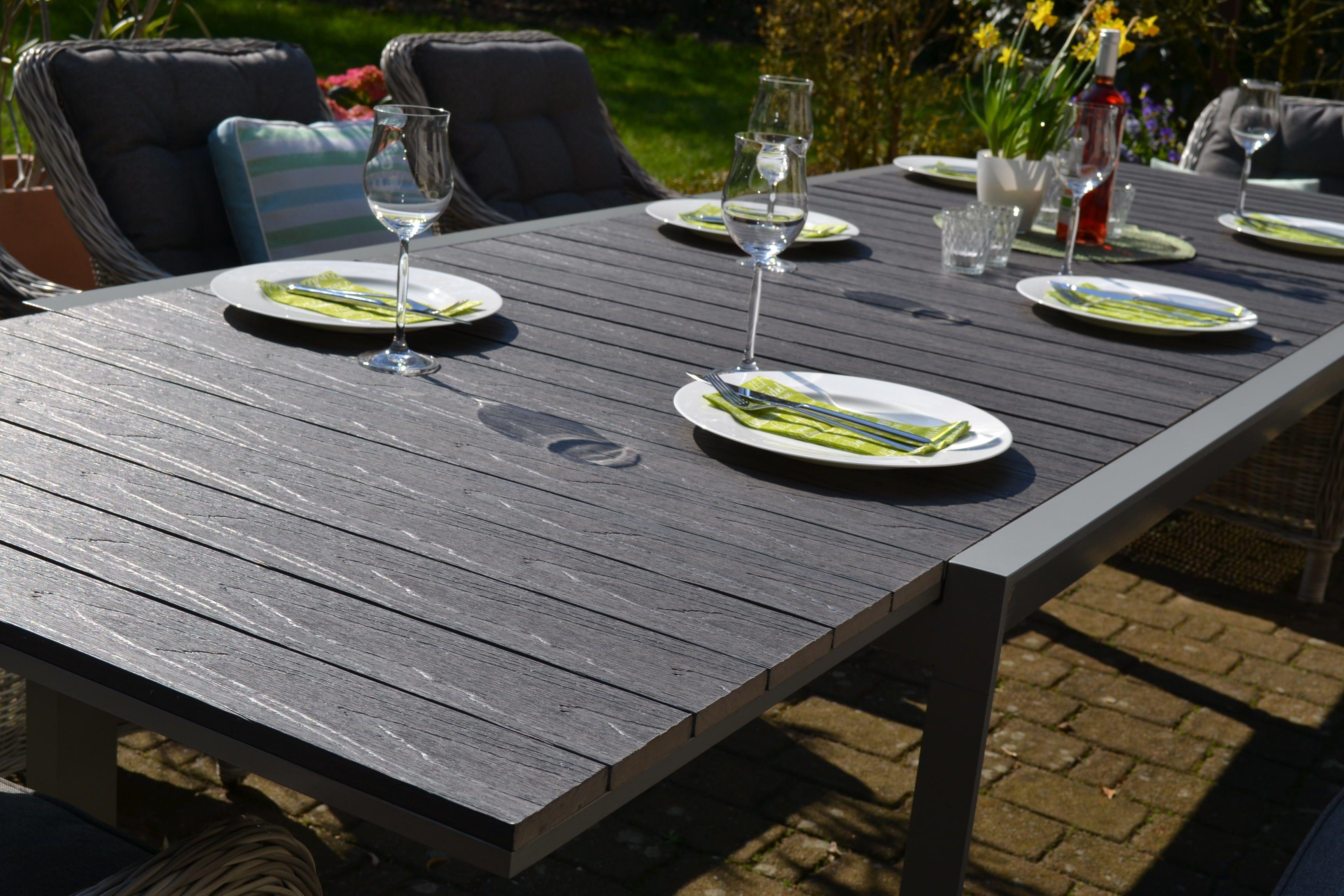 Essgruppe Neapel XL mit verlängerbarem Tisch für 8 Personen