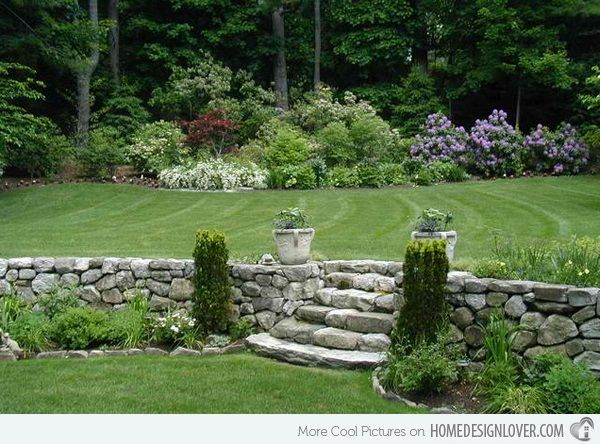 40 Cool Garden Stair Ideas For Inspiration Garden Stairs Rock Garden Landscaping Landscape Design