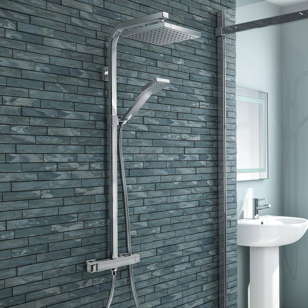 Buy Now Milan Modern Chrome Thermostatic Shower Shower Valve Modern Shower Shower Panels