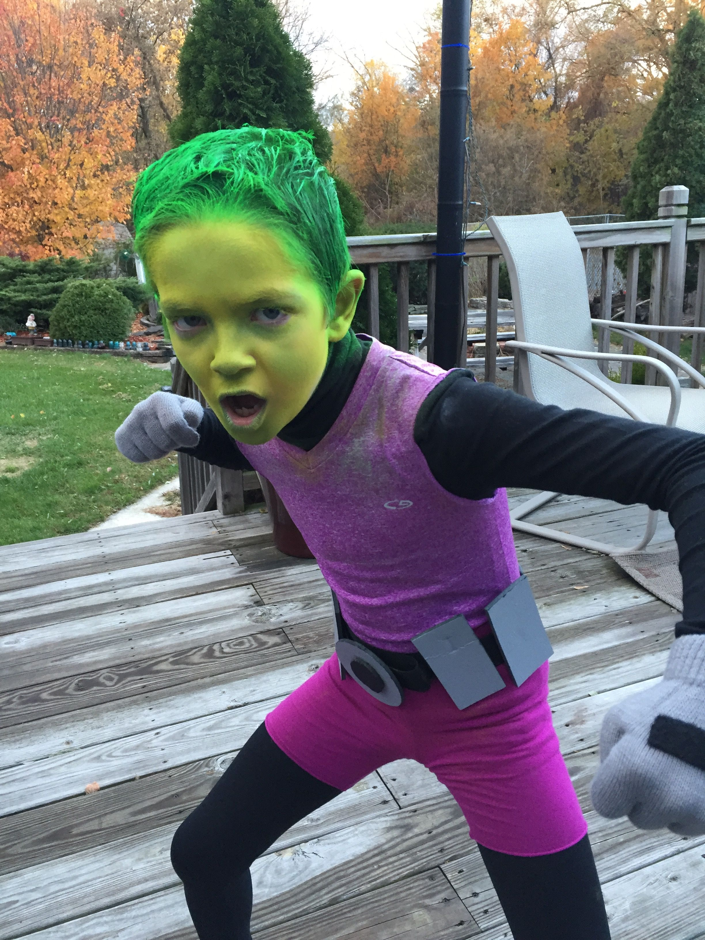 Beast boy costume teen titans cosplay pinterest beast boy diy costumes beast boy costume solutioingenieria Images