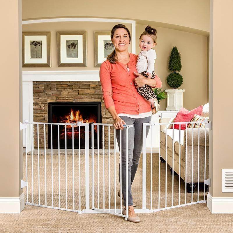 Baby Gate Safety Wide Flexible Large Opening Pet Barrier