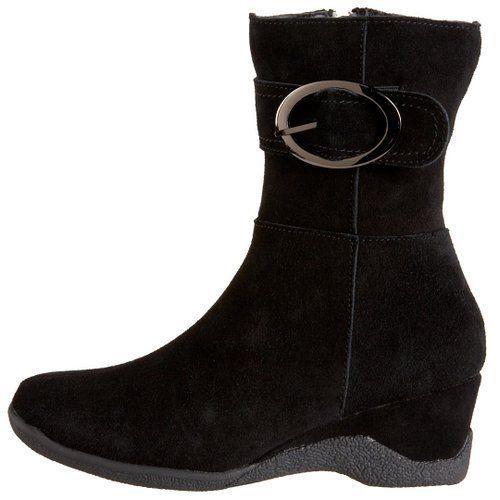 Santana Aquatherm Women'S Khandi Black Suede Side Zipper 100% Waterproof  Boot