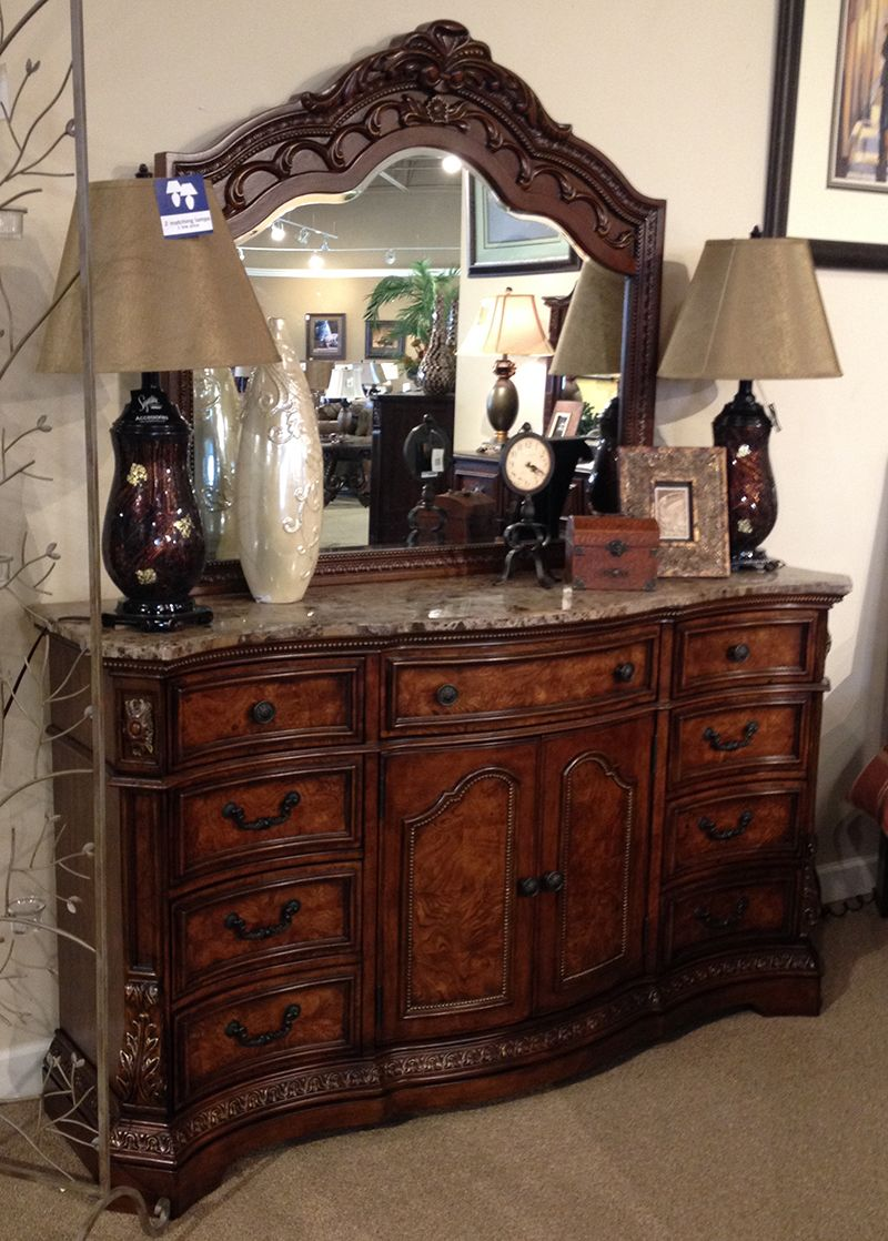 Natural Cherry Bedroom Furniture Ledelle Dresser Mirror With The Traditional Dark Cherry Stain