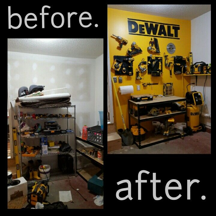 DEWALT Tool Display Garage Organization