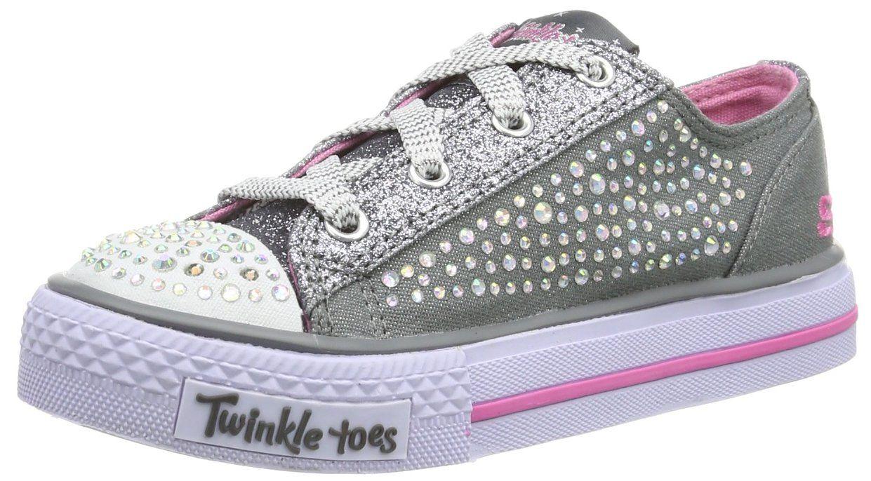 Amazon.com: SKECHERS Kids' Twinkle Toes-Glamour Ties Sneaker Pre/Grade School: Shoes