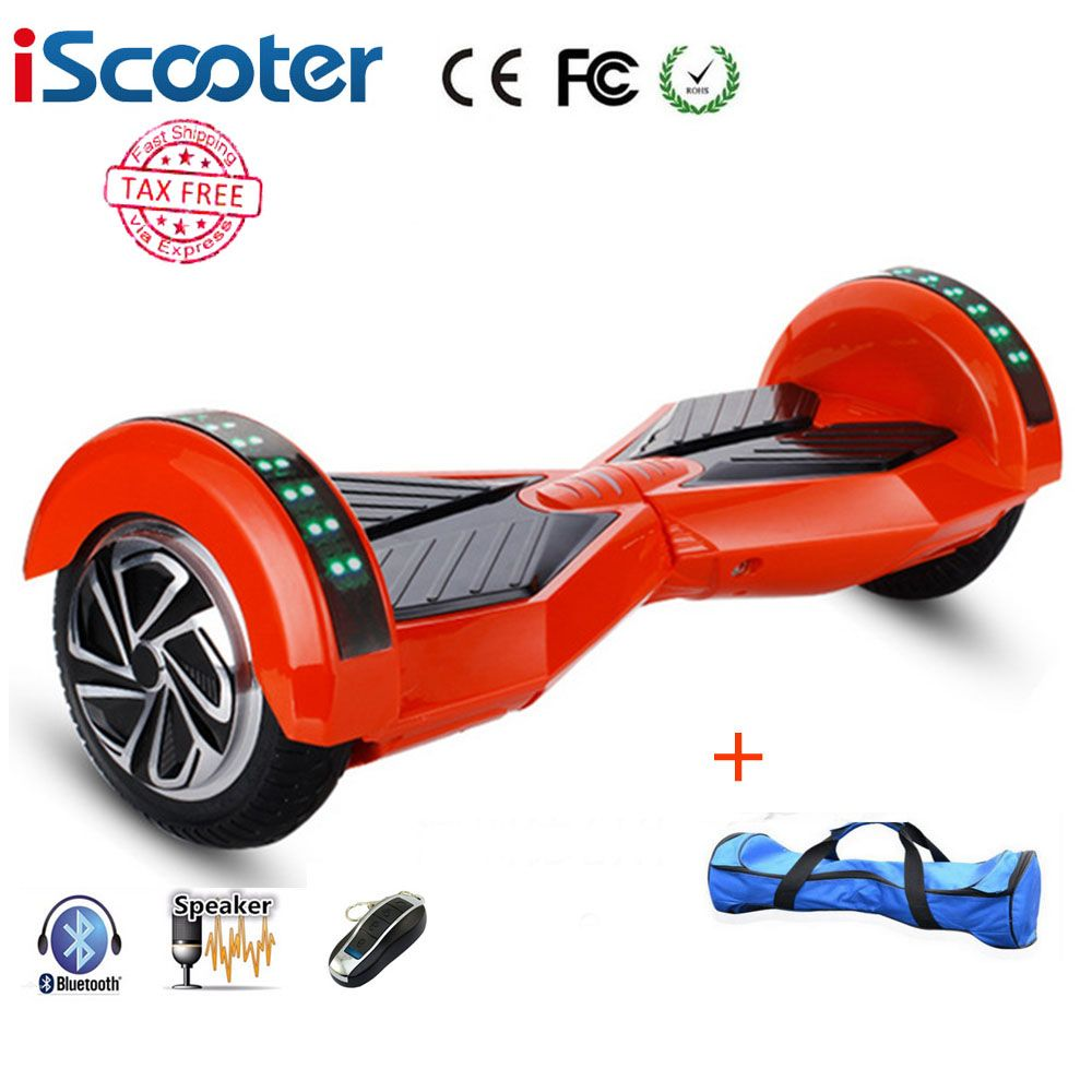 8inch Bluetooth Hoverboard 2 Wheel Self Balancing Electric Scooter Two Smart Wheel With Remote Key And Led Ska Bluetooth Hoverboard Hoverboard Electric Scooter
