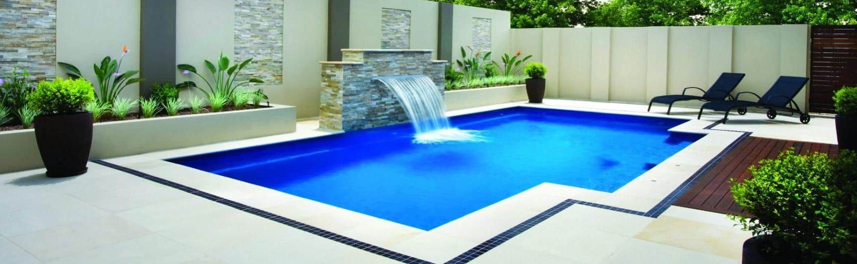Adorable Swimming Pool Design With Minimalist Concept And Waterfall - Swimming-pool-designs-with-waterfalls