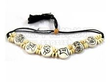 Adjustable Tibetan Carved OM Mani Padme Hum Yak Bone Beaded Amulet Bracelet> I bought this bracelet and it is very distinctive!Sylvia