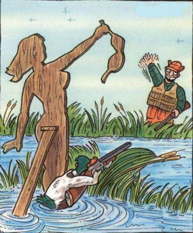 Duck hunter decoy... revenge of the duck...LOL