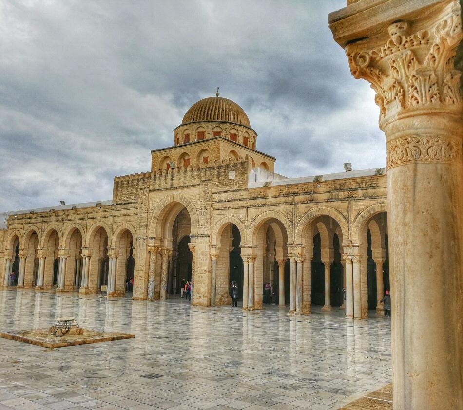 Gran Mezquita De Kairouan En Túnez Tunez Túnez Gran Mezquita