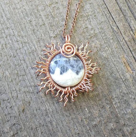 Blue moon pendant copper wire sun blue sodalite wire wrapped blue moon pendant copper wire sun blue sodalite wire wrapped jewelry eclipse aloadofball Images