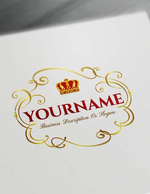 Free Crown Logo Creator Royal Frame Logo Maker Frame Logo Vintage Logo Design Logo Maker