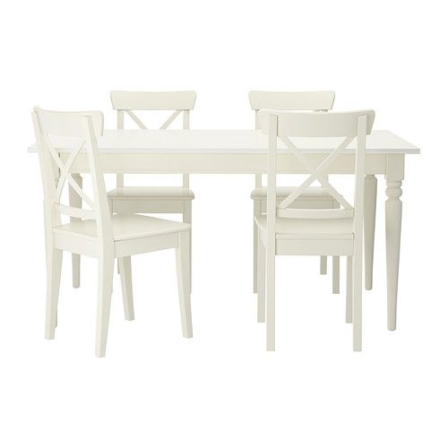 Ingatorp ingolf table and 4 chairs white comedores casa playa y salon comedor - Sillas ingolf ikea ...