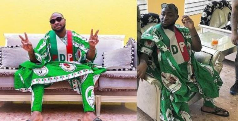 Davido in 2019 Record producer, Nigerian flag, Celebrity