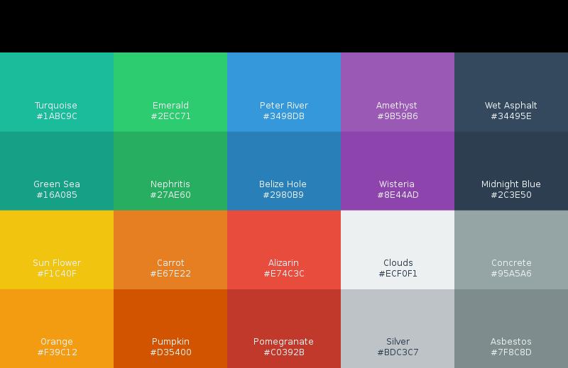 Free Clipart: Flat UI Colors | mpuq