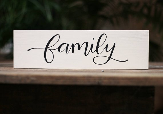 Family Sign Farmhouse Sign Hand Lettered Wood Sign Modern Country Wood Sign White And Black Wood Sign Family Photo Wall Decor Country Wood Signs Family Wood Signs Wood Signs